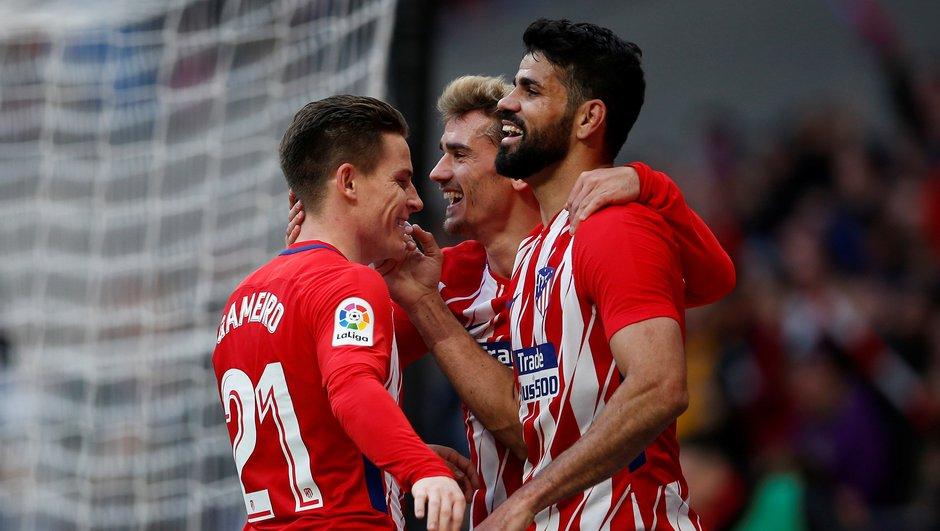 Liga: l'Atletico Madrid tient le rythme du FC Barcelone