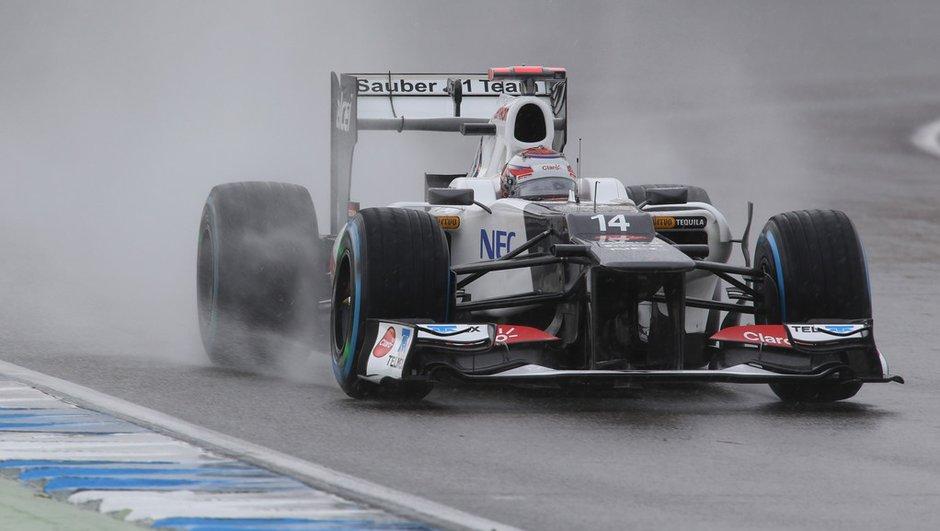 F1 GP Belgique - Essais 1 : séance symbolique sous la pluie