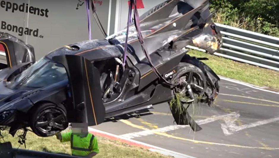 Une Koenigsegg One:1 lourdement accidentée au Nürburgring