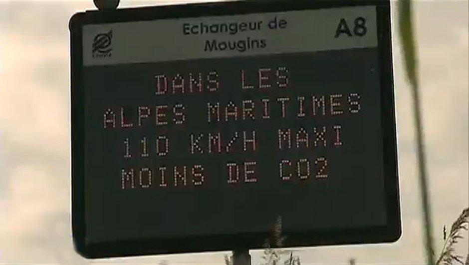 L'autoroute A8 totalement limitée à 110 km/h