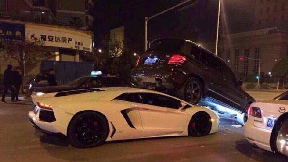Insolite : Cinq Lamborghini accidentées le même jour en Chine !