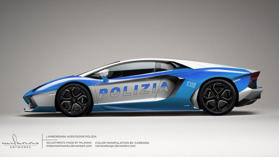 Lamborghini Aventador : voici la version (virtuelle) de la police !