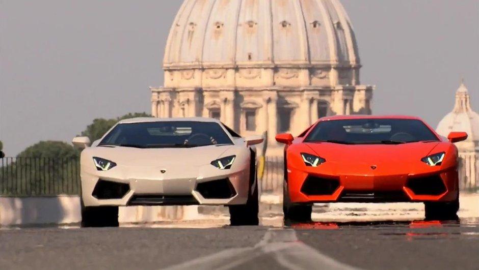Lamborghini Aventador à Rome : la vidéo officielle