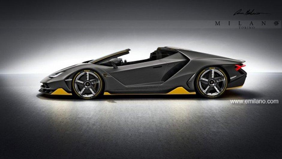 Design : La Lamborghini Centenario Roadster illustrée