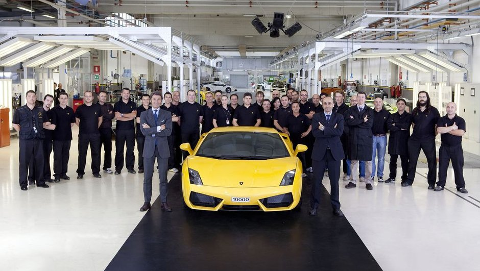Lamborghini Gallardo : 10.000 exemplaires produits !