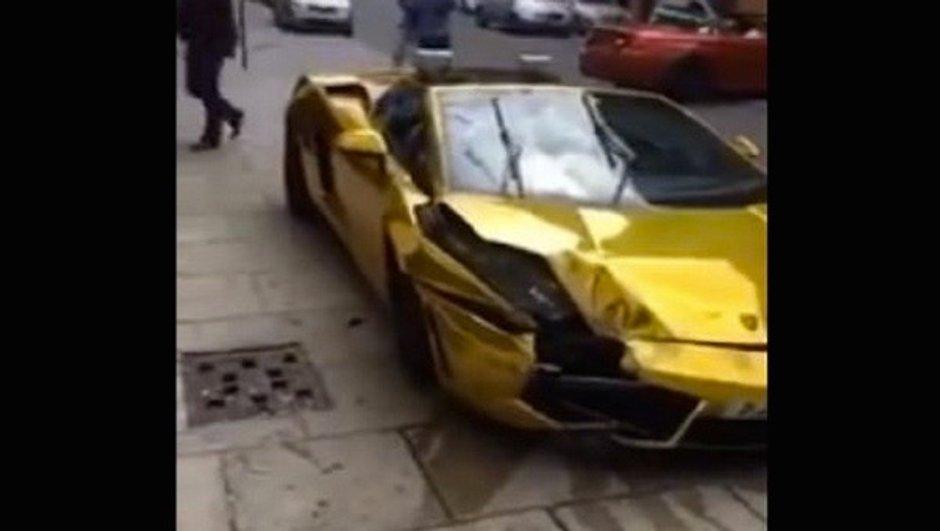 VIDEO Insolite: Il crashe sa Lamborghini Gallardo Spyder en pleine rue