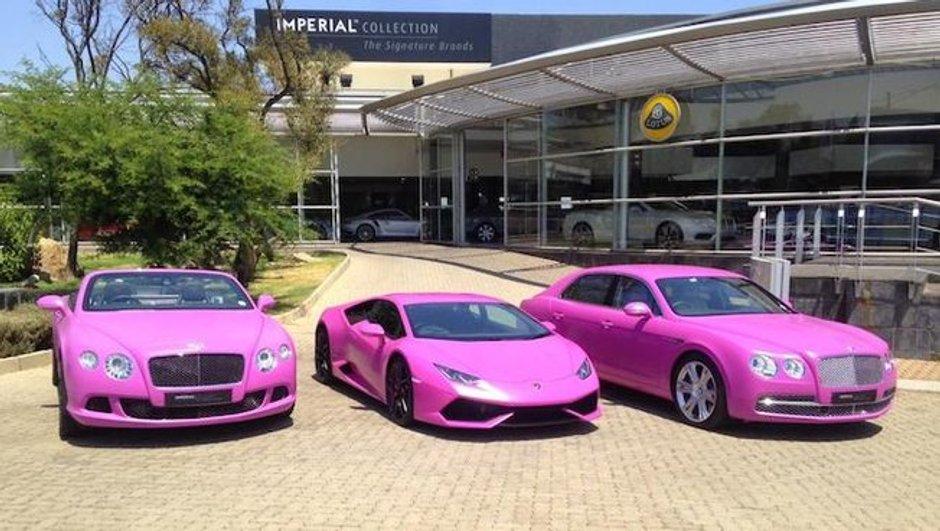 Insolite : une Lamborghini Huracan en rose pour lutter contre le cancer du sein