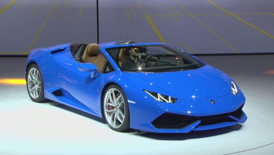 Salon de Francfort 2015 : la Lamborghini Huracan Spyder se découvre