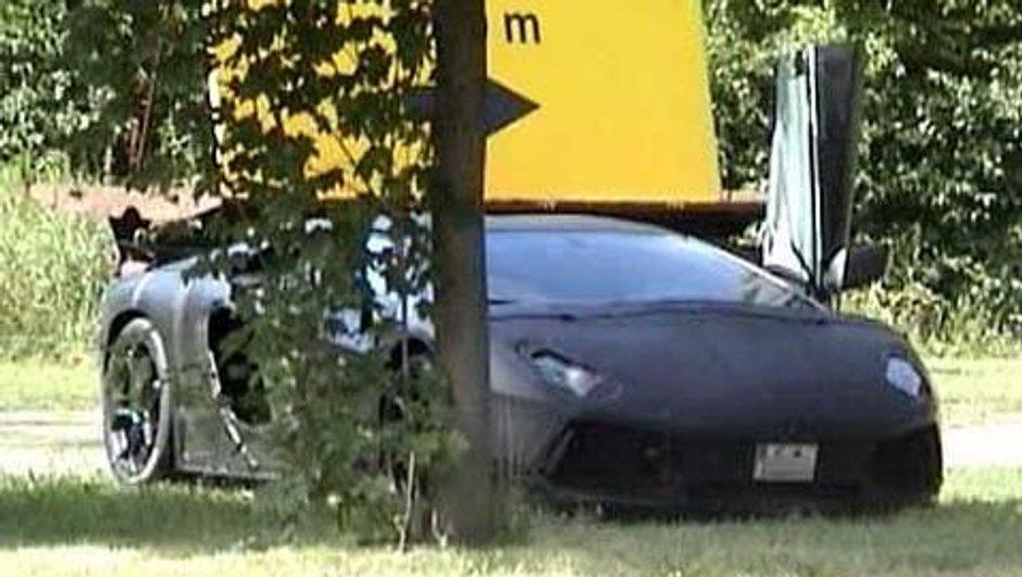 Mondial de l'Auto 2010 : Lamborghini Jota photographiée en test