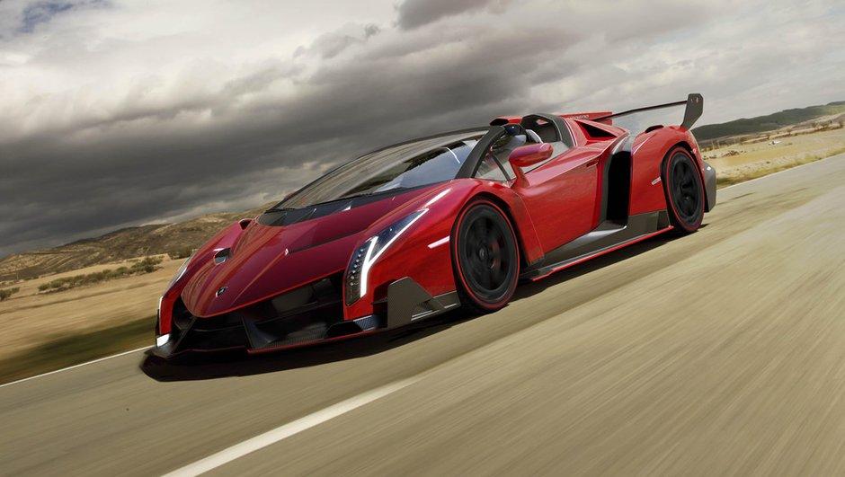 Lamborghini Veneno Roadster 2014 : un spectacle à ciel ouvert