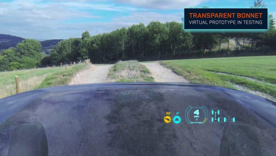 Land Rover présente le capot (virtuellement) transparent