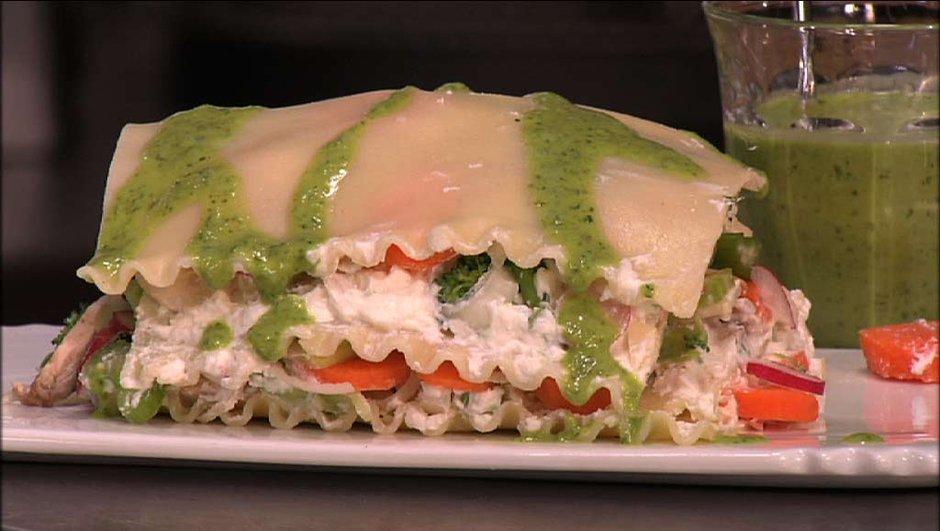 Lasagnes froides de légumes
