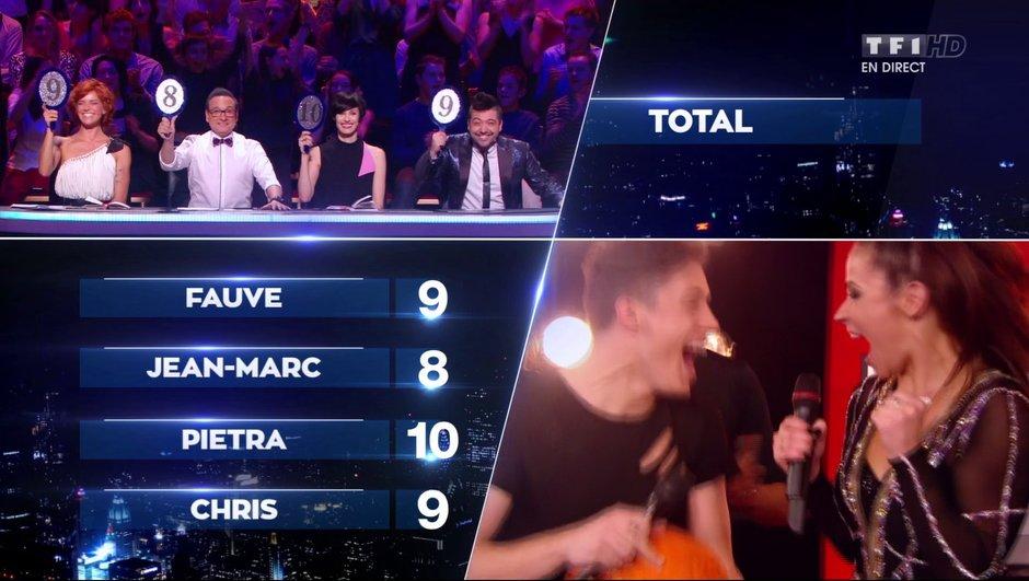 Loïc Nottet et Denitsa décrochent un 10 et Chris Marquès se met debout sur le bureau !