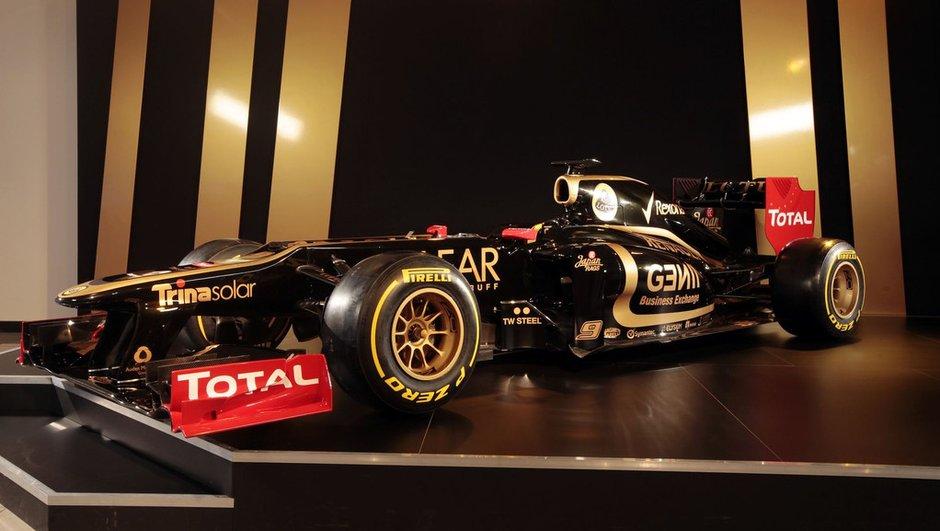 F1 2012 : la monoplace Lotus E20 en photos et vidéo