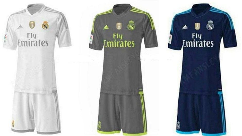 Real Madrid : Les maillots de la saison 2015-2016 auraient fuité