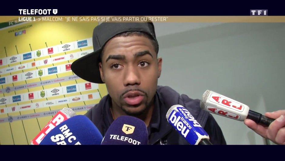 """[EXCLU Téléfoot 21/01] – Bordeaux / Malcom évoque l'intérêt d'Arsenal : """"Je ne sais pas si je vais partir ou si je vais rester, je laisse ça à mes agents"""""""