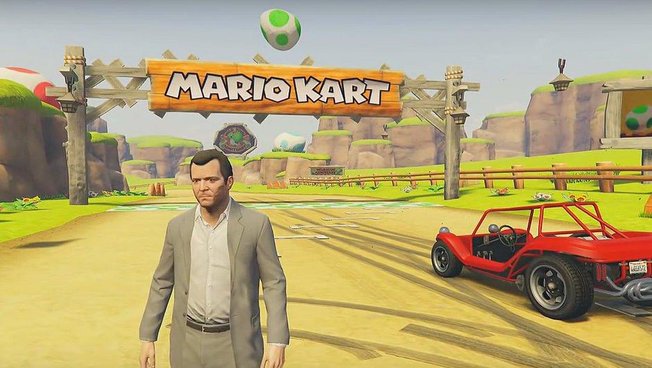 Insolite : GTA V s'invite dans Mario Kart