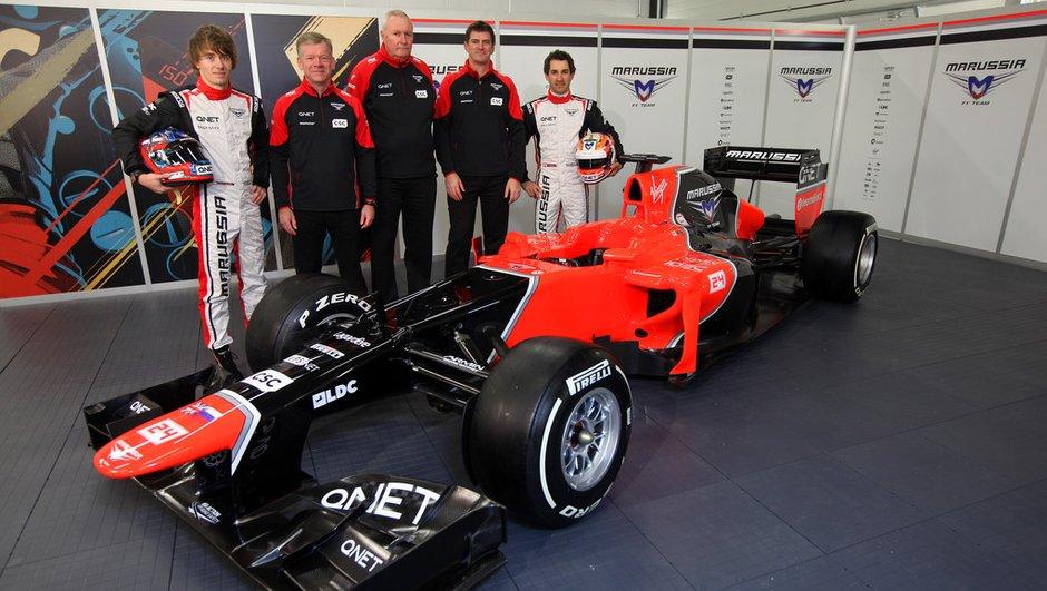 F1 : Marussia présente sa nouvelle MR01
