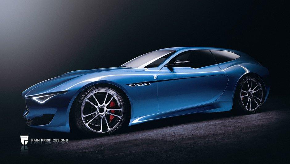 Design : Une Maserati Alfieri en version Shooting Brake