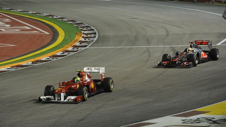 """F1 : Quand Massa devait """"détruire la course"""" de Hamilton à Singapour"""