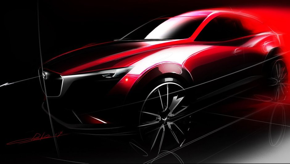 Mazda CX-3 : première image teaser pour le futur crossover nippon !