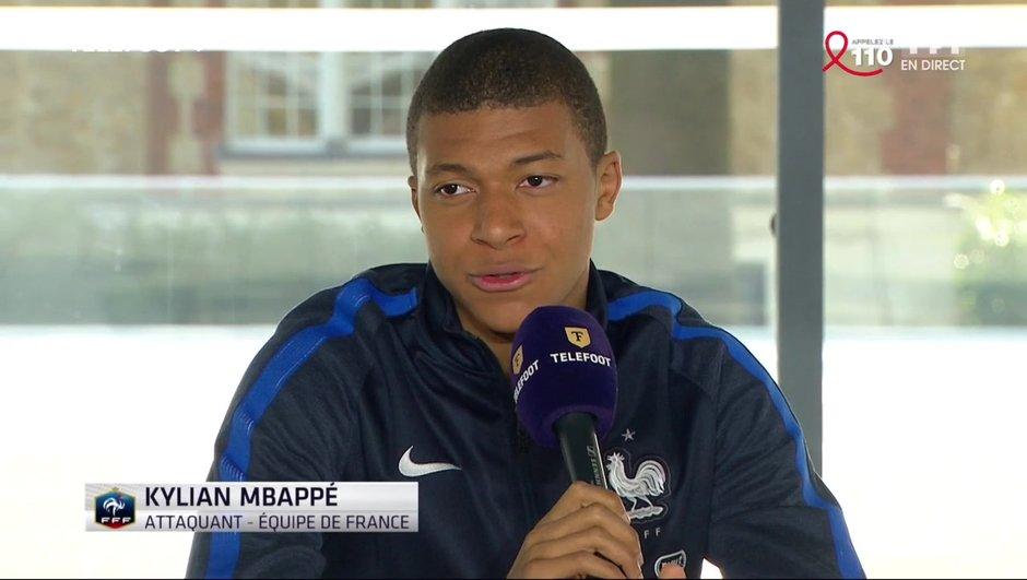 """[Exclu Téléfoot 26/03] - Mbappé : """"J'ai attendu cette première sélection depuis tout petit"""""""