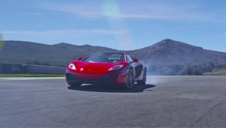 Vidéo : la McLaren MP4-12C Spider se défoule !