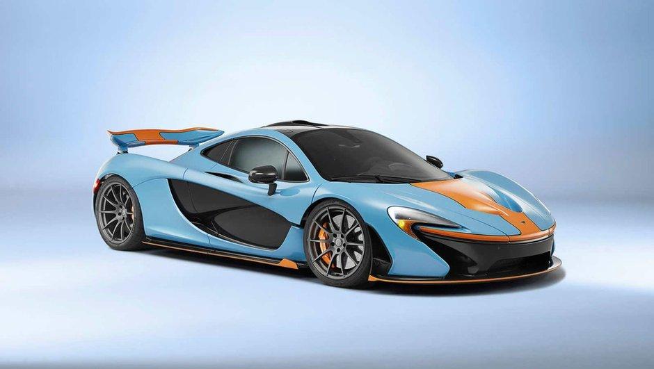 """Une livrée orange et bleue """"Gulf Oil"""" pour la McLaren P1"""