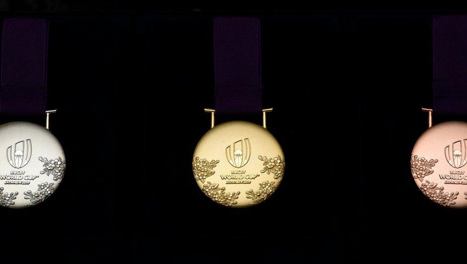 World Rugby dévoile les médailles de la Coupe du monde