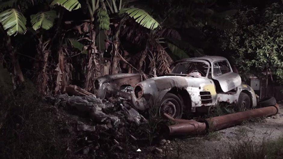 Insolite : une Mercedes 300 SL Gullwing retrouvée abandonnée à Cuba