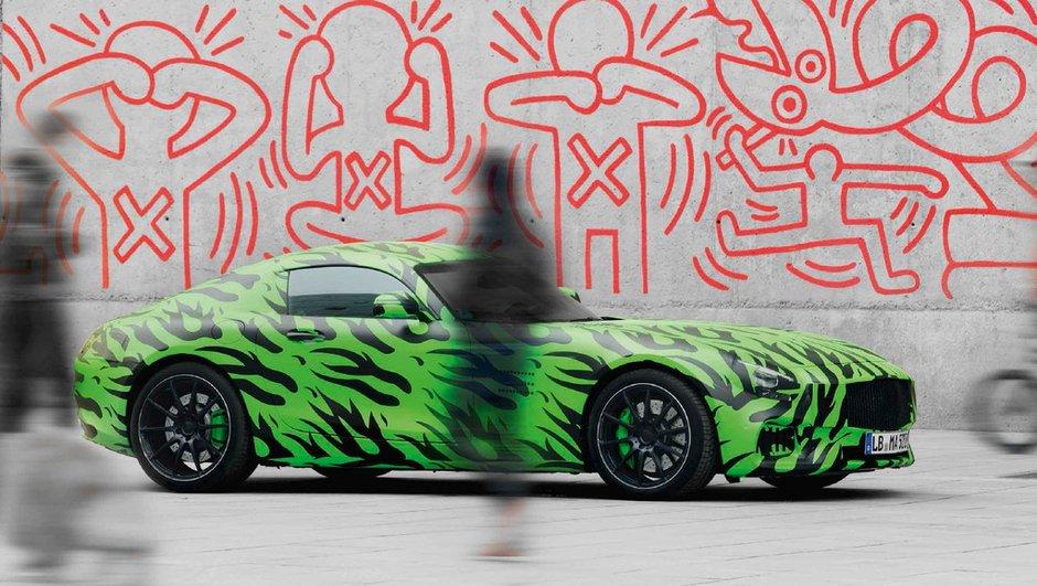 Future Mercedes-AMG GT 2015 : nouvelles photos... en camouflage spécial