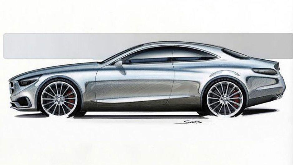 Mercedes Classe S Coupé 2014 : déjà des esquisses