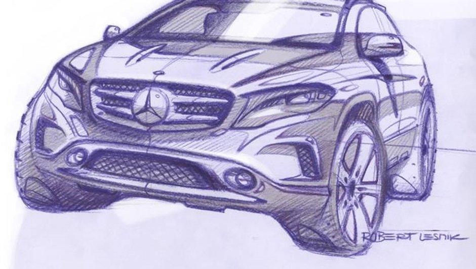 Mercedes-Benz GLA 2013 : des esquisses pour patienter