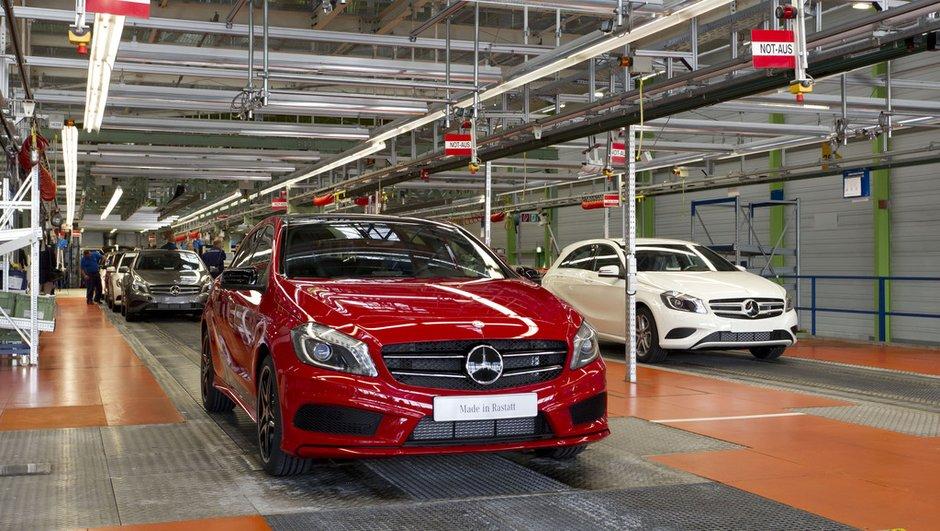 Nouvelle Mercedes Classe A : la première sort des chaînes !