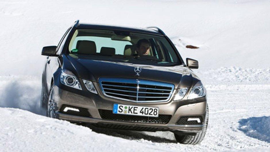 Le Mercedes Classe E Break prêt pour l'hiver