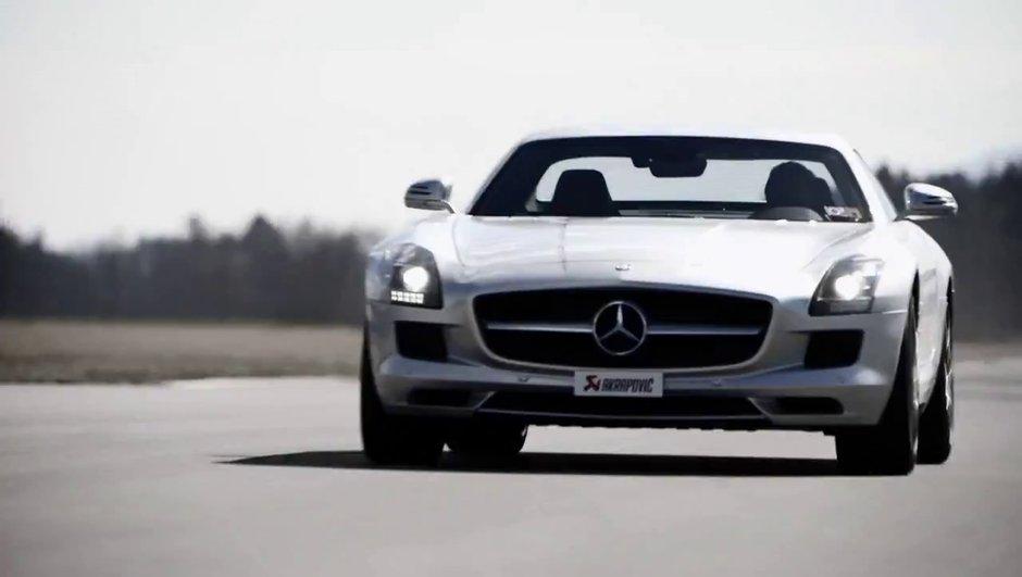 Vidéo : Mercedes SLS AMG, magnifique son signé Akrapovic