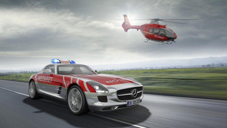 Mercedes SLS AMG Emergency Medical Concept : ambulance de course ?