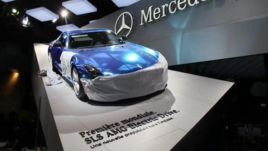 Mondial de l'Auto 2012 : la Mercedes SLS AMG Electric Drive en scoop
