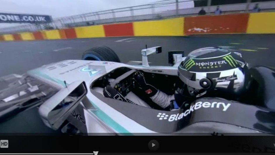 F1 2014 : montez à bord de la Mercedes W05 de Nico Rosberg !