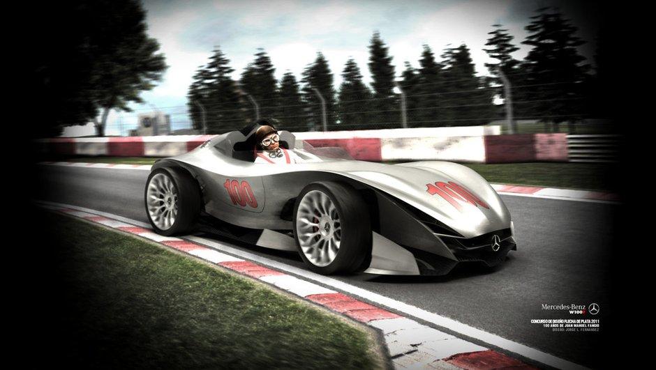 Mercedes W100F, un concept virtuel en hommage à Fangio