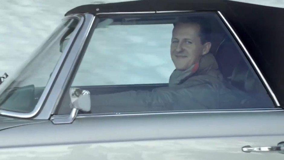 Schumacher s'amuse dans la neige avec sa Mercedes