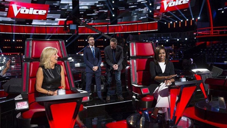 Michelle Obama, coach d'un soir dans The Voice !
