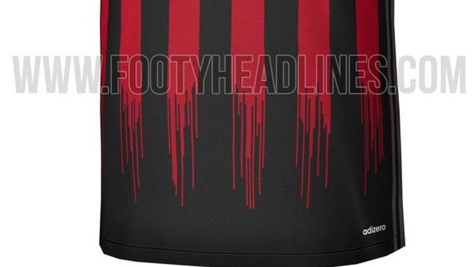 Le nouveau maillot « sanguinaire » du AC Milan fuite sur la toile