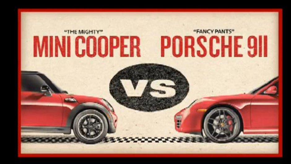 MINI défie Porsche et tombe dans la parodie de Rocky !