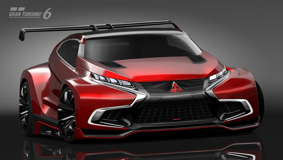 Mitsubishi Concept XR-PHEV Evolution Vision GT 2014 : crossover sportif pour GT6