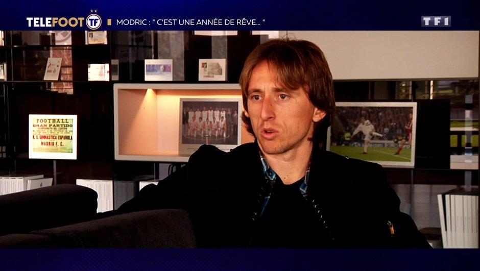 """[EXCLU Téléfoot – 9/12] - Modric : """"Gagner le Ballon d'Or, ça je ne l'avais jamais rêvé"""""""
