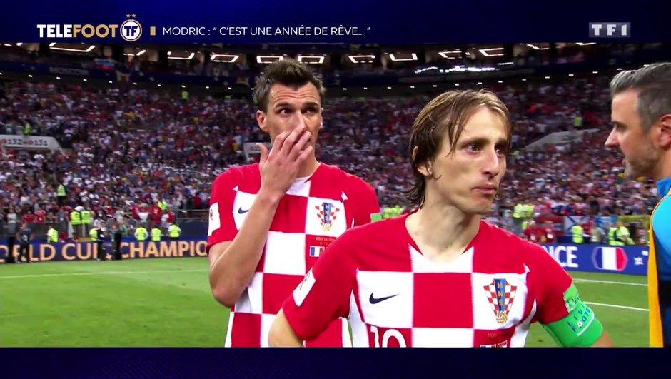 """[EXCLU Téléfoot – 9/12] - Modric sur la Coupe du monde : """"La Croatie méritait d'aller en finale"""""""