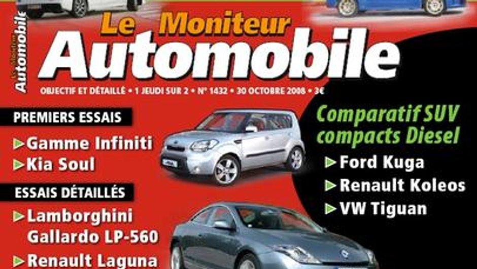Au sommaire du Moniteur Automobile du 30 octobre