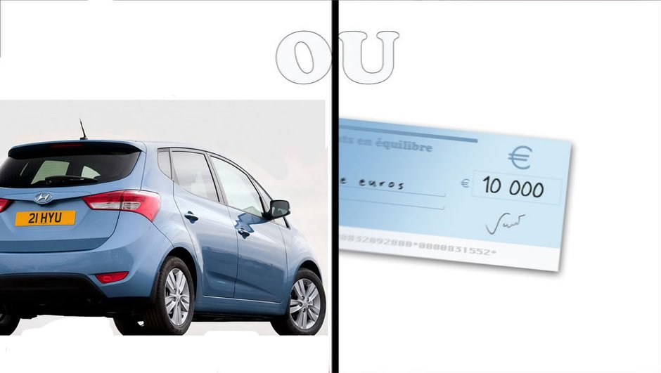 Monospace ou chèque de 10 000 euros