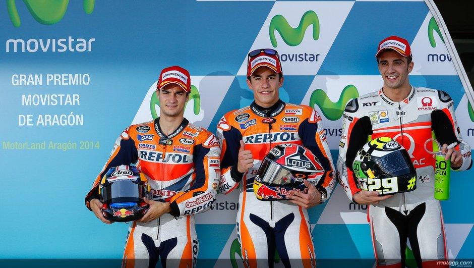 MotoGP - Aragon 2014 : Marquez enfonce le clou en qualifications